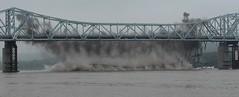 Demolition 6 (Jane Inman Stormer) Tags: bridge fall water construction iron explosion demolition splash explosives ohioriver madisonindiana