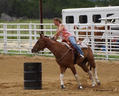Liberty Hill Barrel Race (Garagewerks) Tags: horse sport race america outdoors cowboy texas sony country barrel sp american di cowgirl hillcountry 70300mm tamron vc usd libertyhill barrelracing barrelrace f456 a65