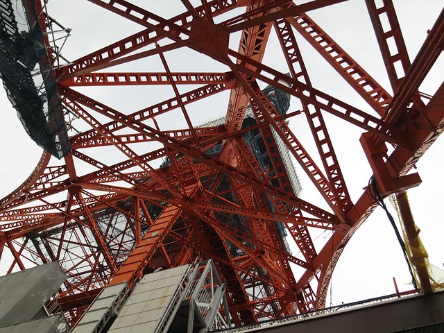 この東京タワーの足が大好きです。|東京タワー