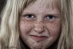 Sad or Happy (Hkon Kjllmoen, Norway) Tags: girl beautiful face children child close sint glad lei blond sur redd jente feelings 2013 flelser