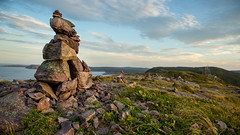 """""""Now the people will know we were here"""" (CookiesForDevo) Tags: canada landscape rocks stjohns places inukshuk newfoundlandandlabrador"""