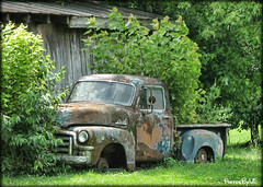 Old GMC (Photos By Vic) Tags: old truck junk rust rusty pickup gmc 1954gmc
