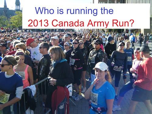 2013 Canada Army Run: local half-marathon runners  (page 1 of 2)