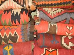 Turkish kilims, bold motifs