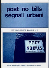 1980 -POST NO BILLS-SEGNALI URBANI-ARTI VISIVE-AMBIENTE QUADERNO N.2