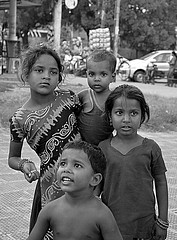 Portrait (Pharheen) Tags: street people blackandwhite india children poor chandigarh beggars