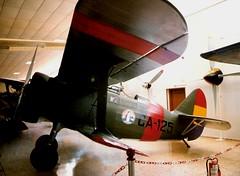 Polikarpov I-15 Chato CA-125 Spanish Air Force. Cuatro Vientos, Madrid 1996 005 (Lee Mullins) Tags: madrid airplane aircraft airplanes aeroplane aeroplanes biplane i15 chato polikarpov ca125 spanishairforce