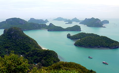 Ang Thong (lauraverreet) Tags: ocean sea thailand island asia thong ang viewpoint