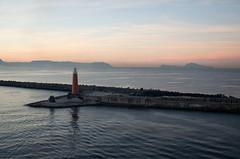 Molo di San Vincenzo (Patrick Costello) Tags: italy lighthouse statue port campania harbour cruiseship napoli naples sangennaro gulfofnaples islandescape molodisanvincenzo