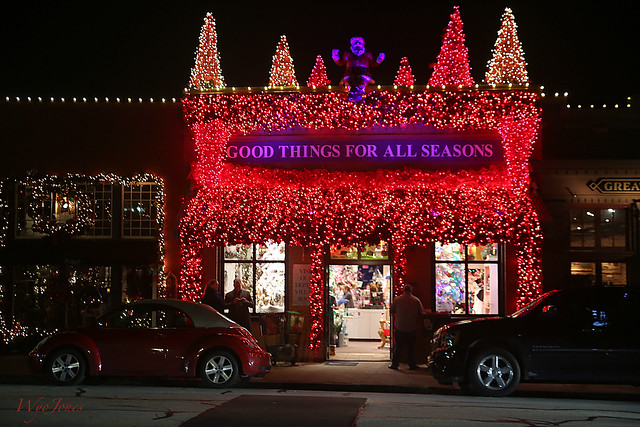 Store Lighted For Christmas