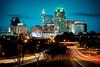 Raleigh (Sky Noir) Tags: longexposure sky usa skyline photography lights nc highway downtown cityscape south northcarolina raleigh carolina bluehour citycenter cityofoaks skynoir