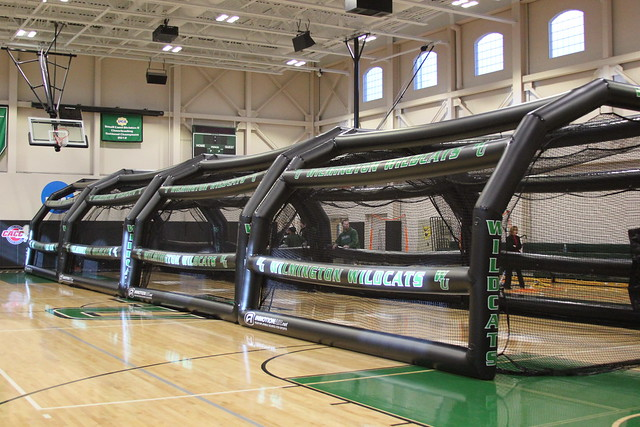 The new indoor batting cages will be in use during the Softball Clinics in January. Copyright 2013; Wilmington University. All rights reserved.