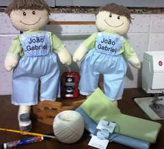 Boneco Joo (Karen, Karina e Maria Tete GaSa) Tags: boneco brinquedo infantil decorao presente tecido bordado personalizado lembrancinha