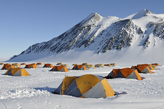 Tent city (rod.strachan) Tags: mountains ice tents antarctica glacier ellsworth