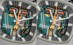 Bulova Accutron Spaceview 3D (lambo_photo) Tags: vintage 3d view cross space watch fork anaglyph stereo eyed tuning heuer uhr gmt spaceview bulova accutron stimmgabel autavia