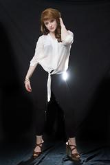 Amber (austinspace) Tags: portrait woman studio necklace washington spokane bra jewelry redhead jacket alienbees
