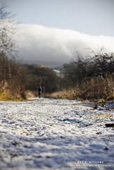 Frosty Walk (DMeadows) Tags: trees woman cold abandoned ice girl landscape person scotland frozen frost path low perspective ruin frosty human walker abandon figure waterside ironworks patna dalmellington dunaskin davidmeadows dmeadows davidameadows dameadows