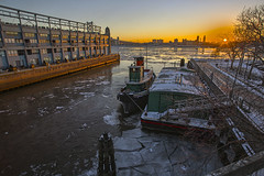 Miserable except for photography (Jackpicks) Tags: winter dawn delawareriver winterstorm philadelphiapennsylvania tugboatjupiter