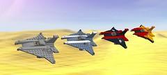 Af-17 Knights (EliteGuard01) Tags: sky lego space f16 pirate sanddunes pheonix interceptor ldd starfighter legodigitaldesigner af17knight