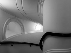 * (donvucl) Tags: bw london lines interior curves staircase tatebritain donvucl olympusepl520mm