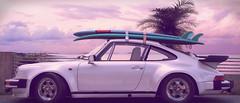 Porsche 911 Turbo 1982 (Artem Yuldashev) Tags: beach car 1982 33 911 surfing palm turbo porsche surfboard