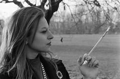 Nero 1948. (Polvere d'Argento) Tags: woman white 3 black 1948 film vintage photography book 2000 cigarette smoke super 400 plus hp5 analogue fotografia fx antico ilford yashica nero federico analogica vecchio epoca brunetti sigaretta giada rullino federicobrunetti