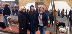 Isabel Roelas, Gloria Llinares y Fuensanta Carrillo en la celebración de San Antón