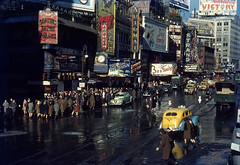 1944 NYC Old Theater Marquees (colinfpickett) Tags: usa ny newyork america buildings us cab broadway