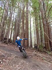 Josh on the berm (Tom Holub) Tags: muni soqueldemoforest mountainunicycling brailletrail
