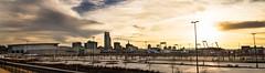 Omaha Panoramic (onetwothree_snap) Tags: sunset skyline nikon nebraska cityscape 85mm panoramic omaha nikkor f18 d800