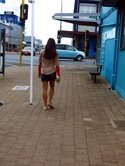 Takapuna girl 14-01-2014 14-21-32 (Mark in New Zealand) Tags: newzealand girl legs skirt northshore nz