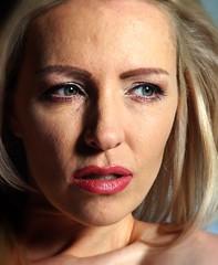 Zara headshot (hethelred) Tags: leica red portrait female model shot head voigtlander watson blonde lipstick 18 zara m9 heliar 75mm