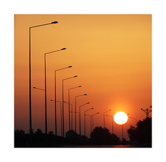 Sunset boulevard - (diaph76) Tags: sunset colors turkey streetlights couleurs turquie coucherdesoleil alignement rverbres