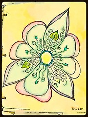 Happy Flower II (TLC2115) Tags: flowers flower color art drawing doodle positive doodles create draw artjournal tlc zendoodle