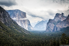 El Capitan and Bridalveil Falls (Eric Zumstein) Tags: elcapitan yosemite clouds rock trees falls yosemitenationalpark granite aoi