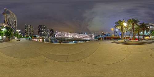 Webb Bridge Melbourne Panorama