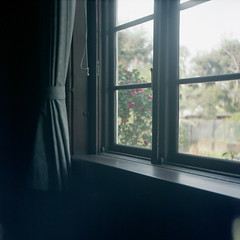 The window of calm afternoon (Sawai Yatta) Tags: 120 film window japan analog fuji room piano squareformat angenieux colorfilm 66 semflex fujipro400h pro400h roomscape europeanstylehouse