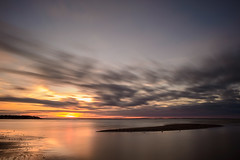 Nigel Fearon Photography | Cape Bimet-2 (Nigel Fearon) Tags: ocean longexposure sunset canada water sand waves dunes atlantic newbrunswick ripples shediac capbimet