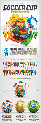 Vuvuzela - Brazil Soccer world Cup 2014 Flyer template