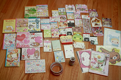 Lots of kawaii stationery! (a k a r i n b o *) Tags: kawaii stationery crux qlia sanx kamio