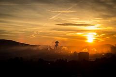 Linz (jmatschy) Tags: linz sonne sonnenaufgang morgen obersterreich vst
