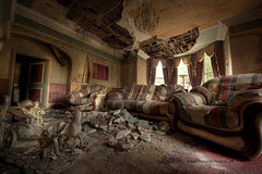 Battle taxi (Sshhhh...) Tags: abandoned home hall decay debris neglected dirty couch explore sombre mansion myriad dust derelict hdr chariot decayed decadence crumbling sshhhh
