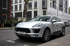 Macan (MJParker1804) Tags: london silver tdi diesel twin s turbo porsche spotted suv mayfair v6 2014 macan