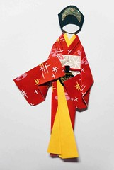 Japanese origami doll 7 (tengds) Tags: red art leaves yellow asian japanese sticker kimono obi origamipaper papercraft japanesepaper ningyo handmadepaper chiyogami yuzenwashi japanesepaperdoll nailsticker paperhandmade washidoll origamidoll kimonodoll nailartsticker tengds papernail igetapattern stickernail washiwashichiyogamiorigami