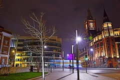 Brownlow Hill (Kev_Barrett) Tags: city longexposure architecture composition liverpool reflections nikon cityscape nightlights perspective cityscapes nightshots lighttrails mersey merseyside nikond3200 d3200 originalfilter uploaded:by=flickrmobile
