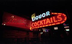 Atomic Liquors (leesure) Tags: lasvegas nikonf100 chuck portra400 cheers2 cheers1 chuck2 chuck3 chuck4 cheers3 cheers4 chuck6 chuck5 chuck7