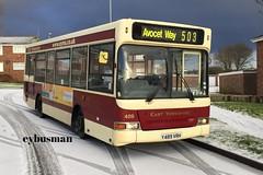 East Yorkshire 489, Y489VRH. (EYBusman) Tags: snow bus coach amy pointer yorkshire johnson east motor hull dennis avenue dart services bridlington mpd slf plaxton eyms y489vrh eybusman