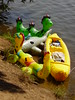 With inflatable dragons on water (Arambajk) Tags: pool up toy blow collection inflatable float blowup inflatables nessie drak pooltoy hračka lochneska dračice nafukovací