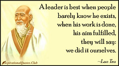 Daily Inspirational Quotes From InspirationalQuotes.Club (inspirationalquotesclub) Tags: people work know leader intelligent exist fulfilled laotzu