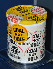 Kirkby and Granby 1984 miners strike collecting tin (Pitheadgear) Tags: pits mine pit 1984 mines coal strikes miner miners colliery mineworkers merseyside minersstrike coalnotdole labourhistory collieries museumofliverpool 1984strike